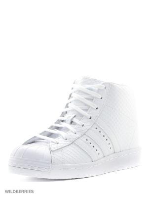 Кроссовки SUPERSTAR UP W Adidas. Цвет: белый