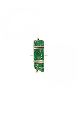 Кольцо wendy Mimi & Lu. Цвет: зеленый