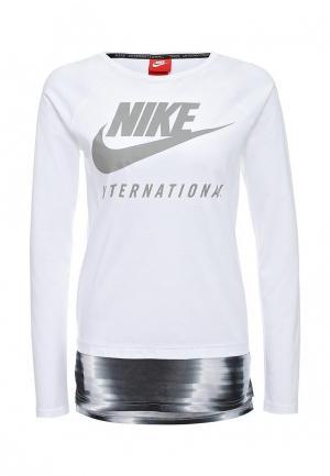 Лонгслив Nike. Цвет: белый