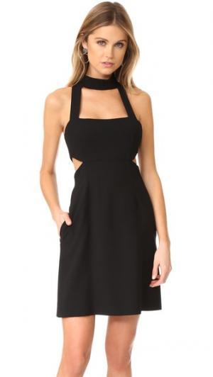 Мини-платье с вырезами и завязками уздечкой Jill Stuart. Цвет: голубой