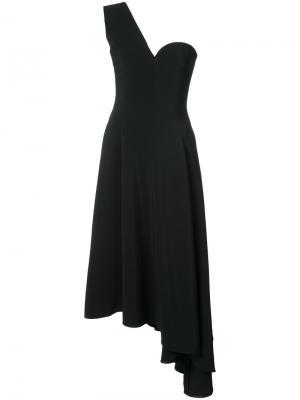 Платье на одно плечо Rosetta Getty. Цвет: чёрный