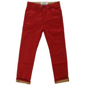 Штаны прямые детские  Krans Trai Lawyo B Ndpt Rosewood Quiksilver. Цвет: красный
