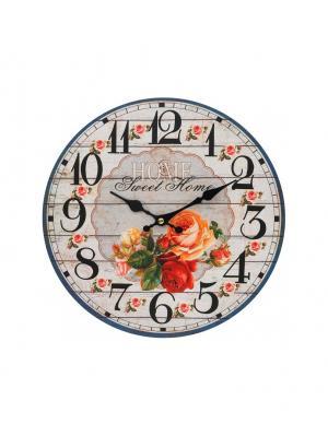 Часы настенные Любимый дом, диаметр 34 см (110-CL) Белоснежка. Цвет: кремовый, красный, сиреневый