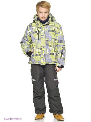 Куртка Snowest. Цвет: серый, салатовый