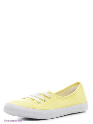 Кеды Oodji. Цвет: желтый
