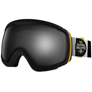 Маска для сноуборда  Feenom Nls Black Satin/Black Chrome Von Zipper. Цвет: черный