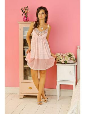 Сорочка Dea Fiori. Цвет: бледно-розовый