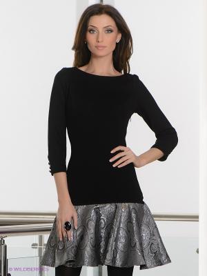 Платье BOVONA. Цвет: черный, серебристый