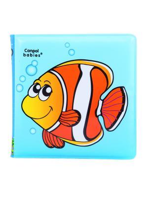 Книжка с пищалкой, 6+, рисунок: рыбка Canpol babies. Цвет: синий