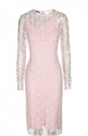 Платье Jonathan Saunders. Цвет: светло-розовый