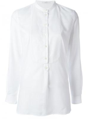 Рубашка с воротником-мандарин Lardini. Цвет: белый
