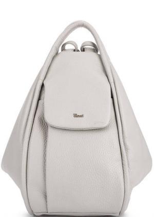 Серая сумка-рюкзак с тремя отделами Bruno Rossi. Цвет: серый