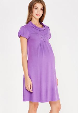 Платье 40 недель. Цвет: фиолетовый