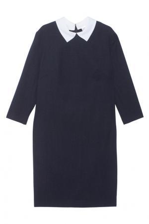 Шерстяное платье Alexander Terekhov. Цвет: синий