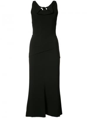 Ruffled midi dress Roland Mouret. Цвет: чёрный