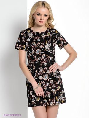Платье New Look. Цвет: черный, синий, оранжевый