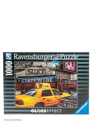 Пазл Желтое такси с глянцевым эффектом, 1000 деталей Ravensburger. Цвет: серый