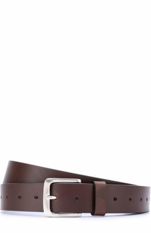Кожаный ремень с металлической пряжкой Vetements. Цвет: коричневый