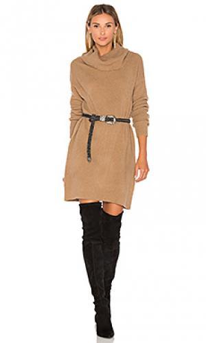 Мини платье collins BB Dakota. Цвет: коричневый