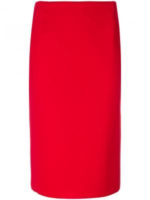Классическая юбка-карандаш Chiara Boni La Petite Robe. Цвет: красный
