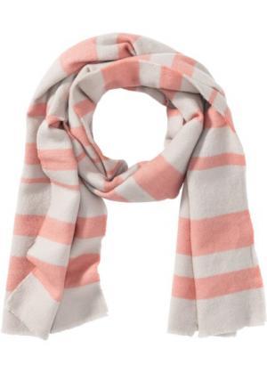 Полосатая шаль (персиковый/серебристый) bonprix. Цвет: персиковый/серебристый