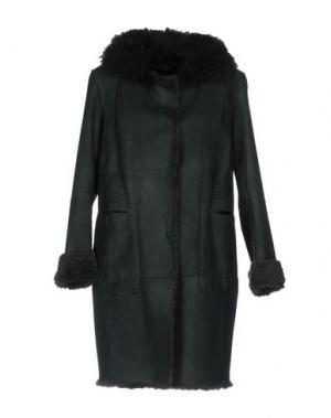 Пальто SALVATORE SANTORO. Цвет: темно-зеленый