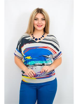 Блуза BALSAKO. Цвет: синий, серый