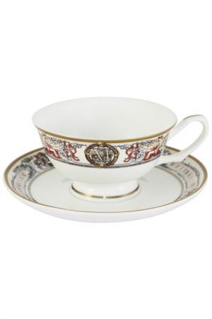 Чашка с блюдцем EMERALD. Цвет: мультицвет
