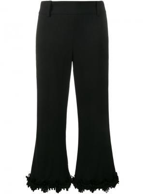 Расклешенные брюки с бахромой Creatures Of The Wind. Цвет: чёрный