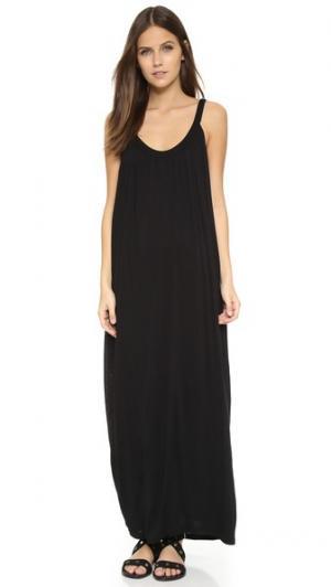 Обтягивающее макси-платье Velvet. Цвет: голубой