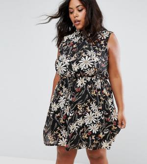 Praslin Платье-рубашка с принтом. Цвет: черный