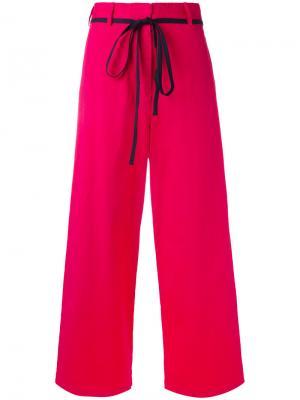Укороченные широкие брюки Hache. Цвет: розовый и фиолетовый