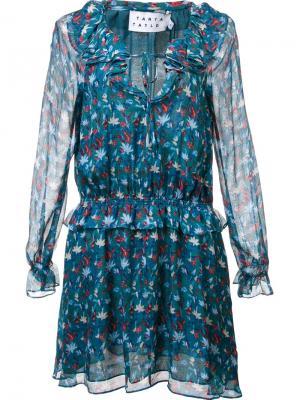 Платье с цветочным принтом Tanya Taylor. Цвет: зелёный