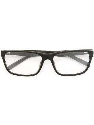 Rectangular frame glasses Tag Heuer. Цвет: чёрный