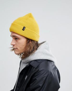 Brixton Желтая шапка-бини. Цвет: желтый