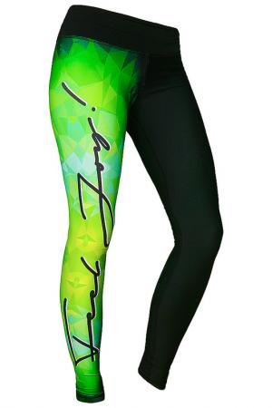 LEGGINGS FEELJ!. Цвет: black, green