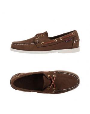 Обувь на шнурках SEBAGO DOCKSIDES. Цвет: темно-коричневый