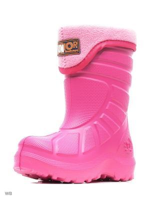 Резиновые сапоги ДюнАстра. Цвет: бледно-розовый, розовый, фуксия