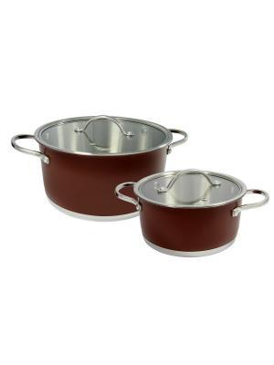 Набор кухонной посуды 2,1л/5,2л BOHMANN. Цвет: коричневый