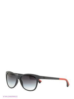 Очки солнцезащитные Emporio Armani. Цвет: черный, оранжевый