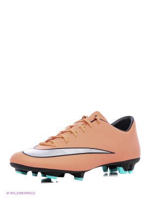 Бутсы MERCURIAL VICTORY V FG Nike. Цвет: оранжевый