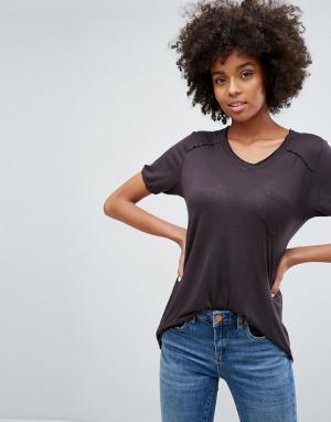 BLANK NYC Свободная футболка. Цвет: черный