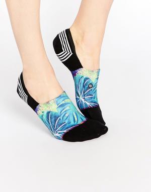 Stance Спортивные носки с тропическим принтом Trippity. Цвет: черный
