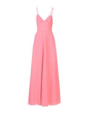 Длинное платье MOSCHINO. Цвет: розовый