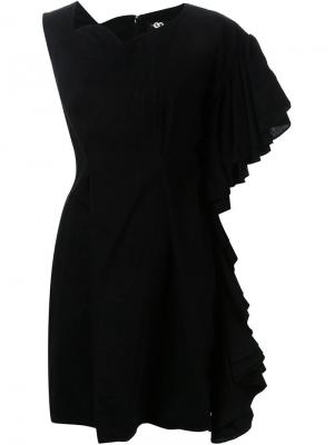 Платье асимметричного кроя DressCamp. Цвет: чёрный