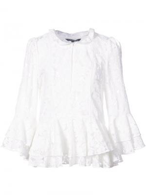Кружевная блузка Marissa Webb. Цвет: белый