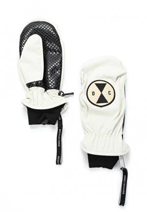 Варежки горнолыжные DC Shoes. Цвет: белый