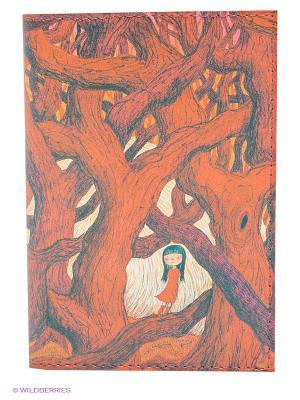Обложка для автодокументов В красном кустарнике Mitya Veselkov. Цвет: красный, розовый
