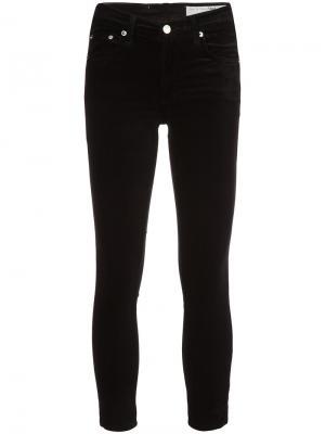 Бархатные брюки скинни Rag & Bone /Jean. Цвет: чёрный