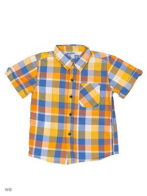 Рубашка Modis. Цвет: белый, синий, желтый